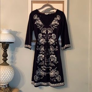 Boden Embroidered Tunic Dress 2R